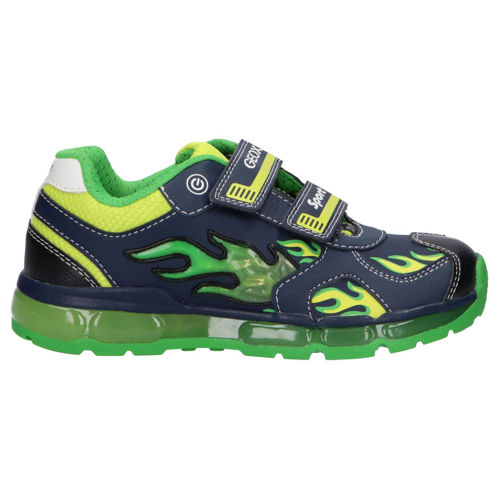 Chaise longue Espacioso Incorporar  Sports shoes for boy GEOX J9444C 054CE J ANDROID C0749 NAVY-LIME Size 37