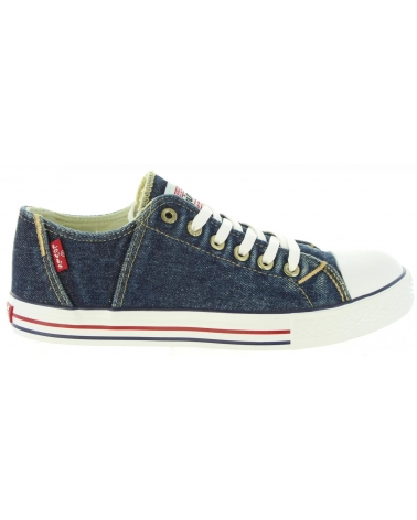 Women and Girl and Boy Trainers LEVIS VTRU0084T ORIG 0740 BLUE DENIM