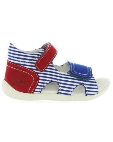 Girl and Boy Sandals KICKERS 469520 BI SEA 53 BLEU ROUGE