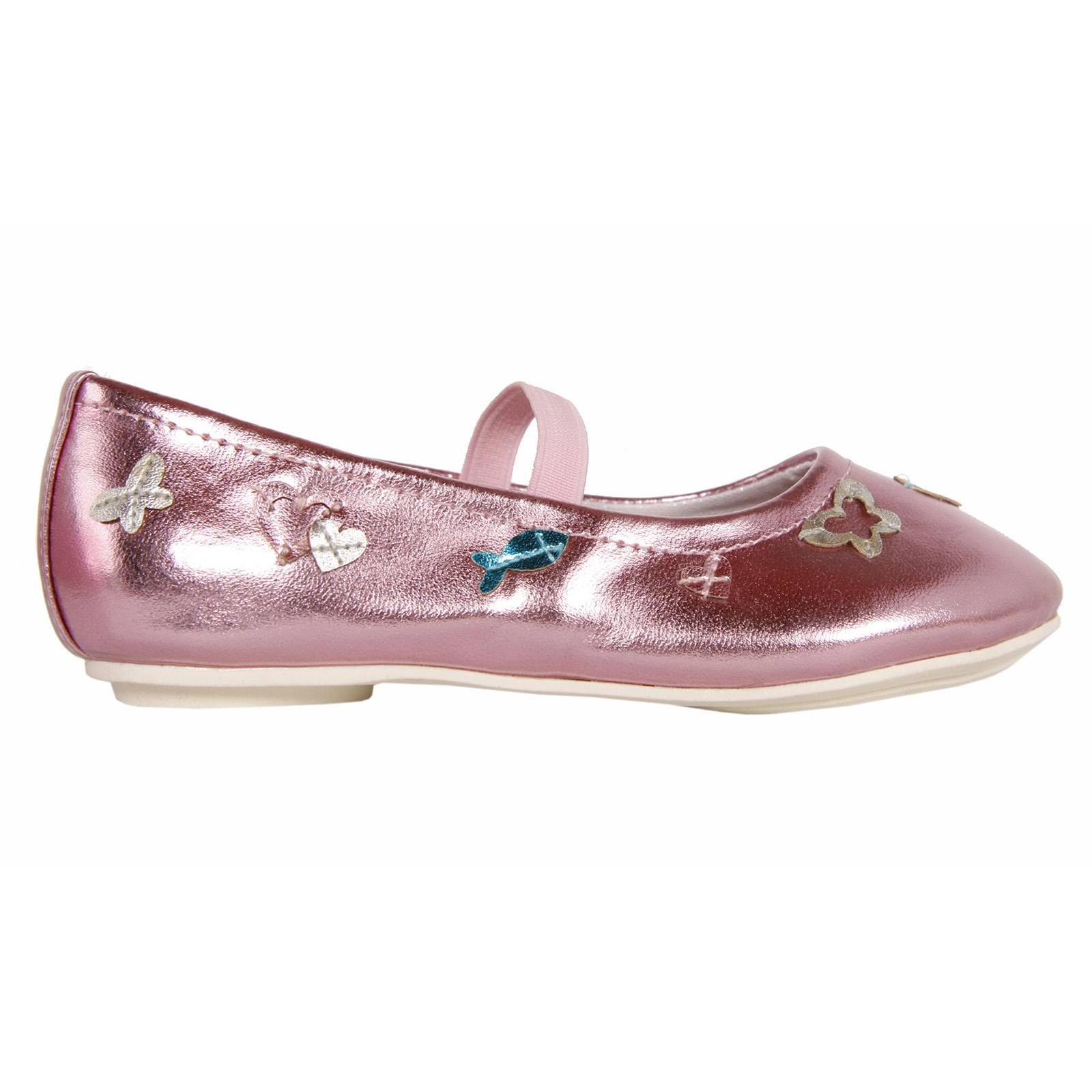 Flat Shoes Girl Flower Girl 149641 B2040 Silver Pink