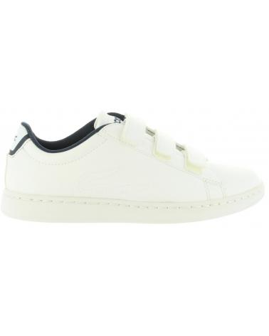 Girl and Boy Sports shoes LACOSTE 31SPC0002 CARNABY EVO 042 WHT-NVY