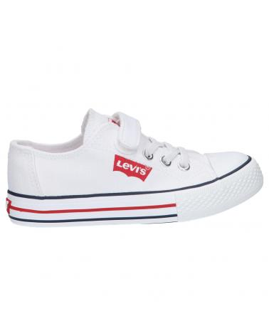 Girl and Boy Trainers LEVIS VTRU0133T TRUCKER 0061 WHITE