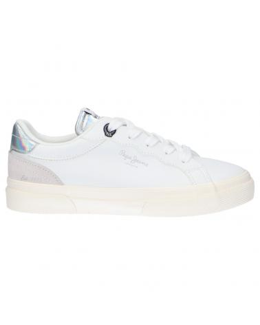 Women and Girl Sports shoes PEPE JEANS PGS30483 KENTON CLASSIC 800 WHITE