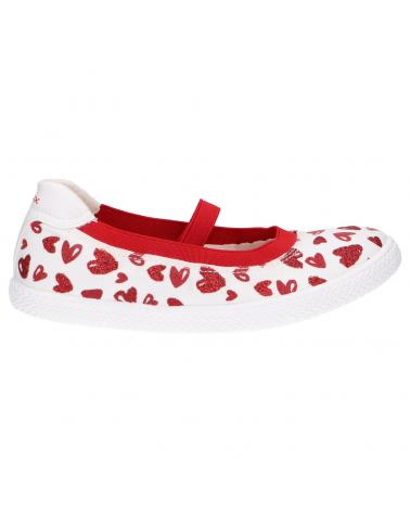 Ballerines pour Fille GEOX J92D5J 000AN J KILWI C0050 WHITE-RED
