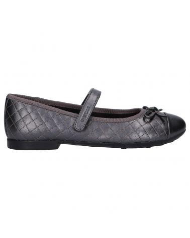 Women and Girl Flat shoes GEOX J5455D 000NF J PLIE C1115 GRAPHITE