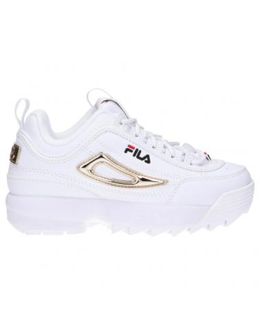 Women and Girl and Boy Sports shoes FILA 1011423 94T DISRUPTOR WHITE-GOLD