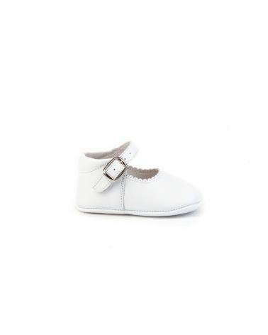 Girl and Boy Infant shoes angelitos ZAPATO PATUCO PIEL 240 BLANCO