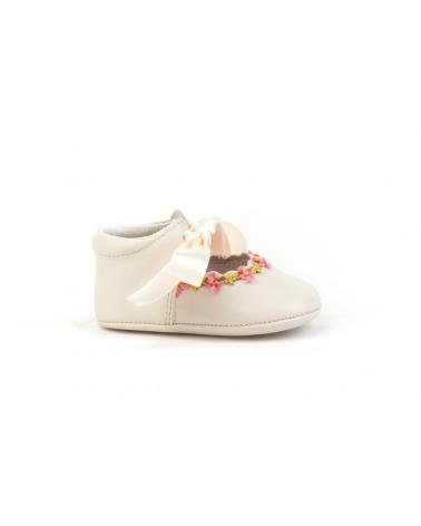 Girl and Boy Infant shoes angelitos ZAPATO PATUCO PIEL 253 BEIGE