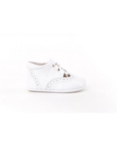 Girl and Boy Infant shoes angelitos ZAPATO PATUCO PIEL 256 BLANCO