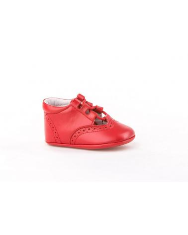 Girl and Boy Infant shoes angelitos ZAPATO PATUCO PIEL 256 ROJO