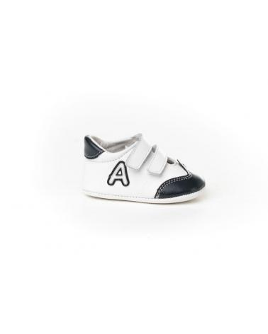 Girl and Boy Infant shoes angelitos ZAPATO PATUCO PIEL 266 MARINO