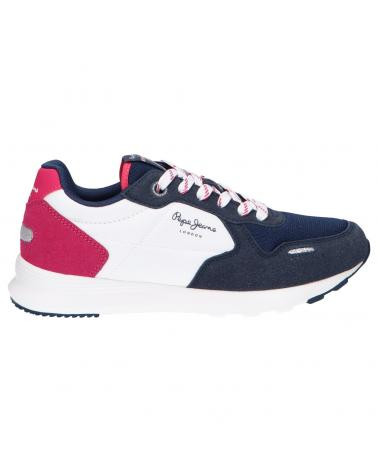 Women and Girl and Boy Sports shoes PEPE JEANS PGS30517 YORK BASIC 595 NAVY