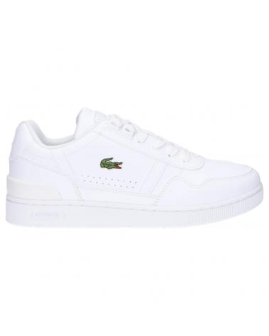 Women and Girl and Boy Sports shoes LACOSTE 42SUJ0004 T-CLIP 21G WHT-WHT