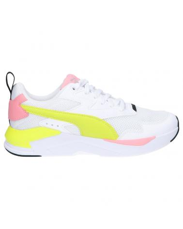 Women and Girl Sports shoes PUMA 374393 X-RAY 19 WHITE-NRGYYELLOW