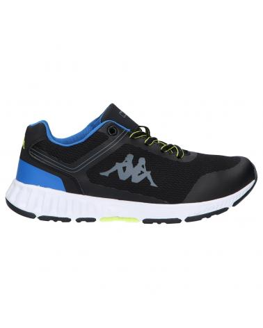 Women and Girl and Boy Sports shoes KAPPA 3117L8W FASTER T12 BLACK-ELECTRIC BLUE