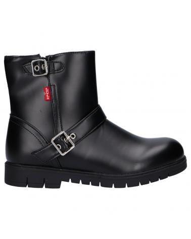 Women and Girl and Boy Boots LEVIS VPHI0041S DAYTONA 0562 BLACK BLACK