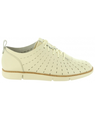 Zapatos de Mujer CLARKS 26132529 TRI ETCH WHITE LEATHER