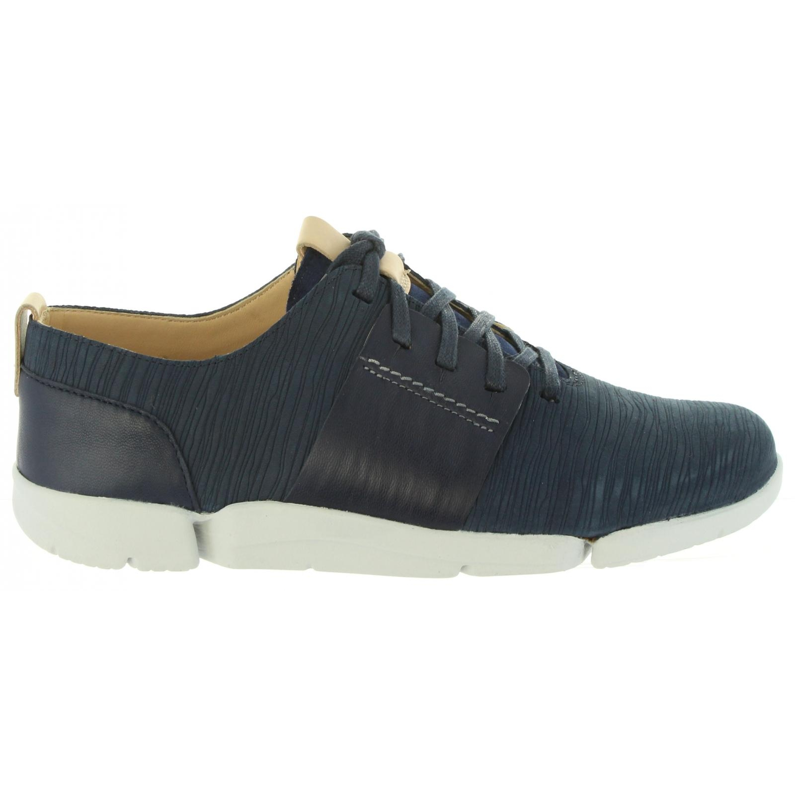 sport chaussures femme CLARKS 26131797 TRI CAITLIN NAVY COMBI Tailles 36