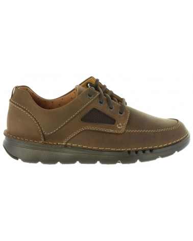 Zapatos de Hombre CLARKS 26127943 UNNATURE DARK BROWN LEA