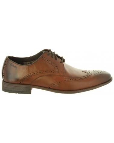Zapatos de Hombre CLARKS 20358625 CHART BROWN LEATHER