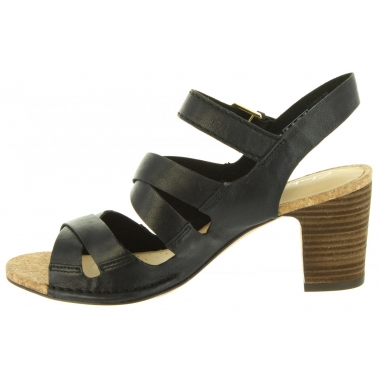 Sandalias de Mujer CLARKS 26131822 SPICED BLACK LEATHER