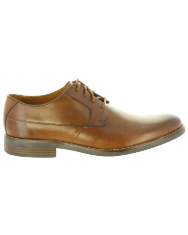 Zapatos de Hombre CLARKS 26124175 BECKEN TAN LEATHER