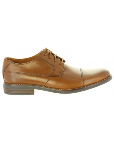 Zapatos de Hombre CLARKS 26123138 BECKEN TAN LEATHER