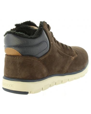 mentiroso cuero Por favor mira  Mid boots for boy GEOX J843NH 022BC J XUNDAY C0947 BROWN-NAVY Size 32