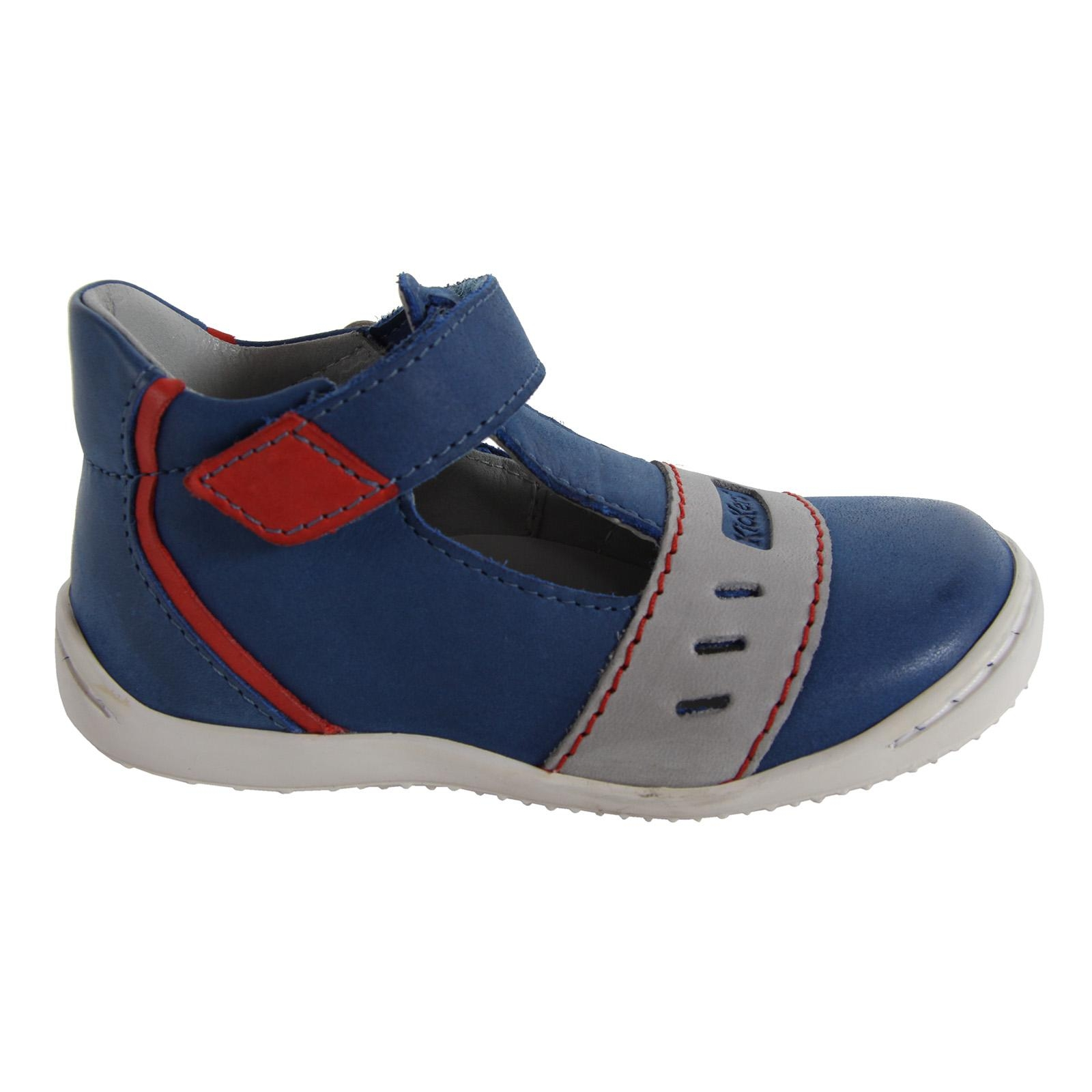 Zapatos de Niño KICKERS 413491-10 GREG BLEU ROUGE